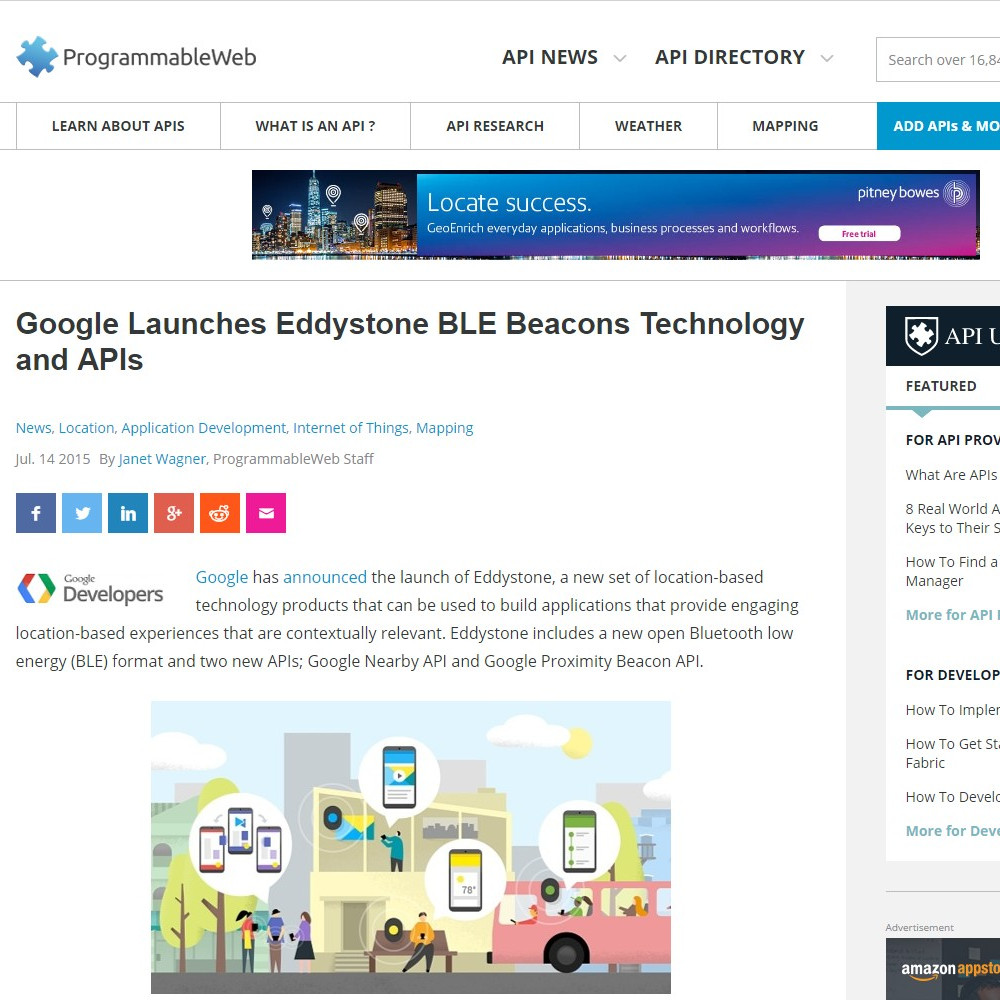 Google Launches Eddystone BLE Beacons Technology and APIs