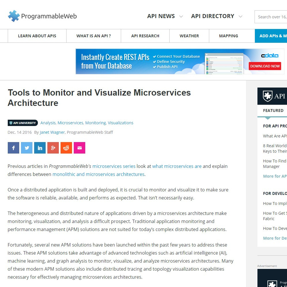 Tools to Monitor and Visualize Microservices Architecture