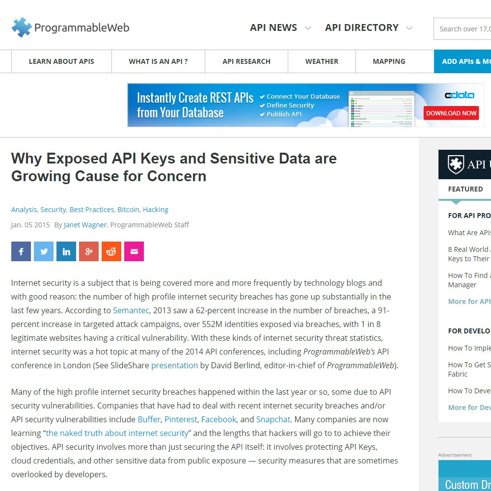 Why Exposed API Keys and Sensitive Data are Growing Cause for Concern