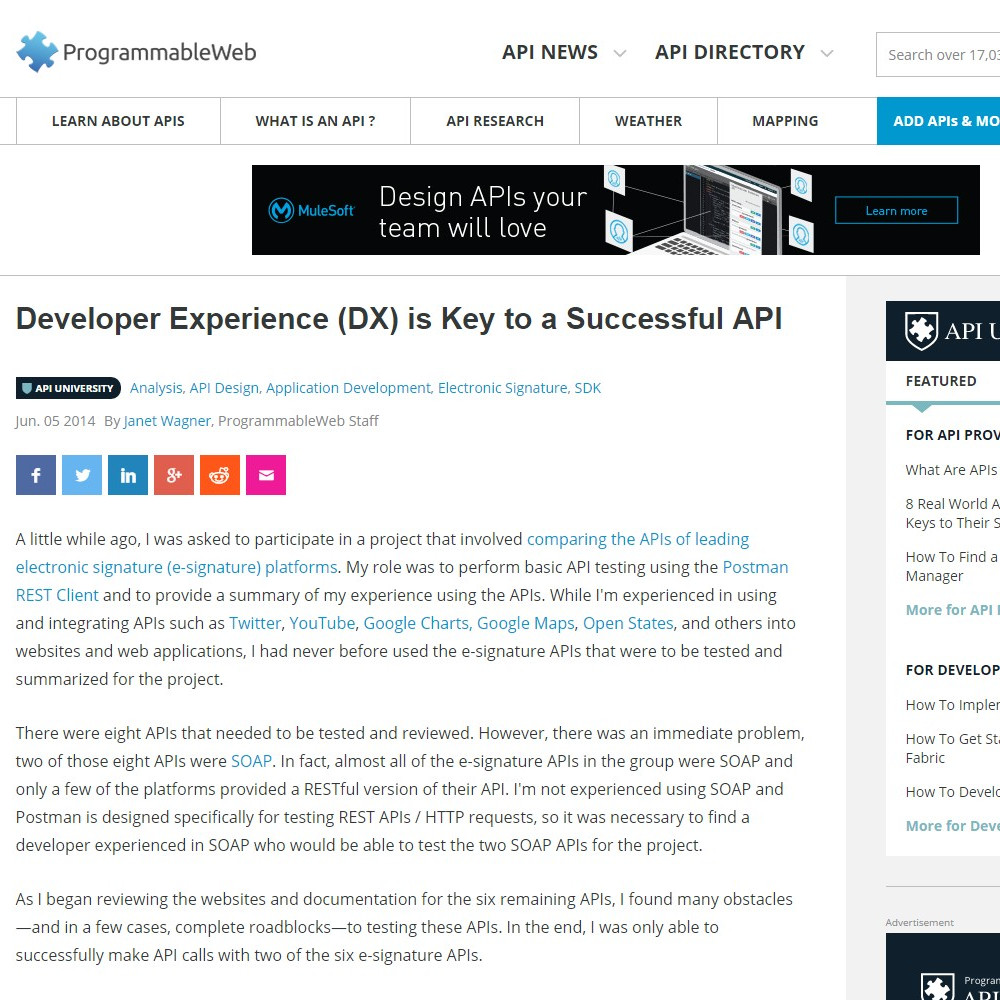 Developer Experience (DX) is Key to a Successful API