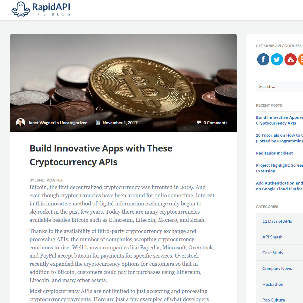 Build Innovative Apps with These Cryptocurrency APIs