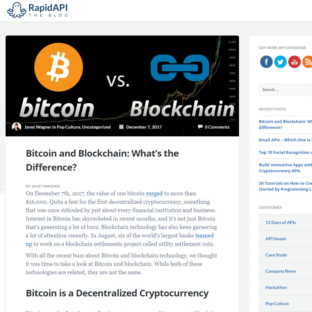 Bitcoin and Blockchain: What's the Difference?