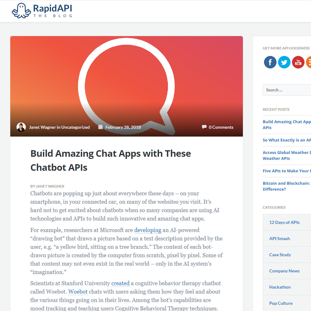 Writing Project | Blog Post | Build Amazing Chat Apps with These