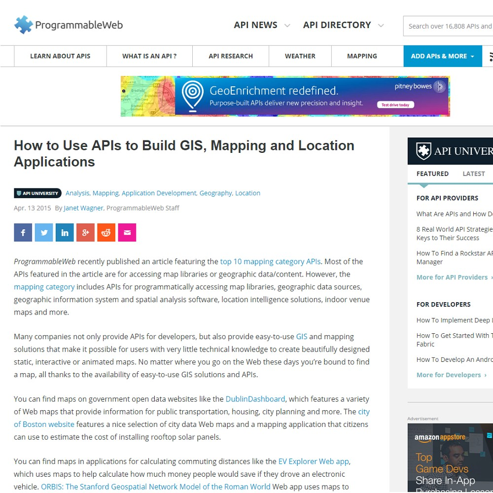 How to Use APIs to Build GIS, Mapping and Location Applications